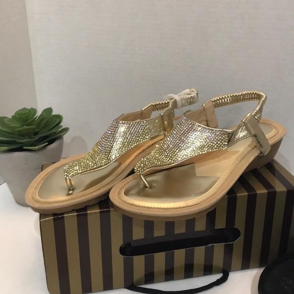 7a6ba9f76 Lady Godiva Gold Women s Thong Sandals Size 6.5